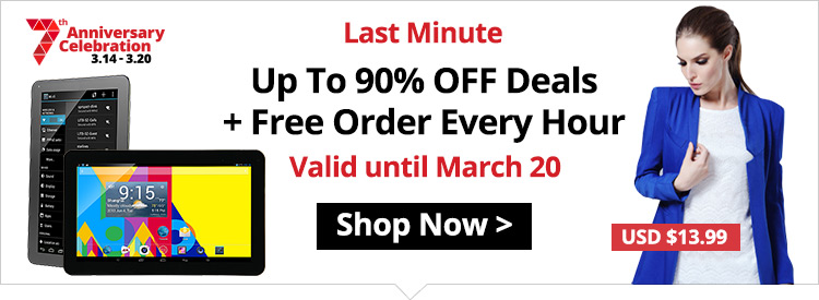 Up To 90% OFF Deals + Free Order Every Hour