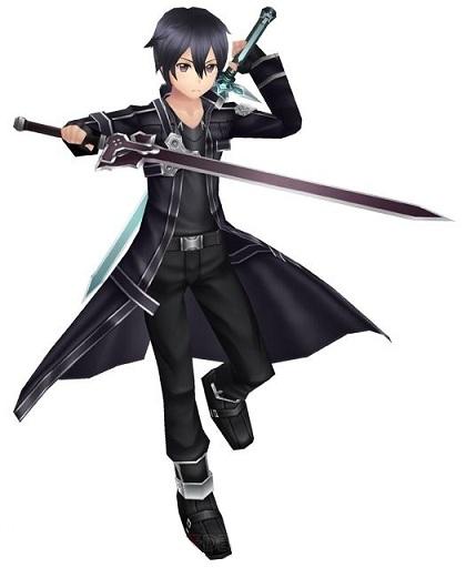 Anime Characters For Sale : Sword art online kirito black elucidator wood