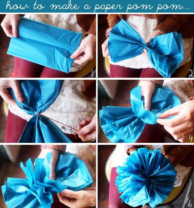 Как сделать помпоны из бумаги своими руками поэтапно