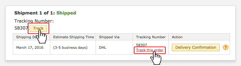 How can I track my package?