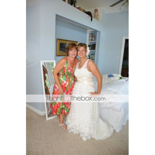 mamma mia empire v neck asymetrical tulle taffeta celebrity wedding