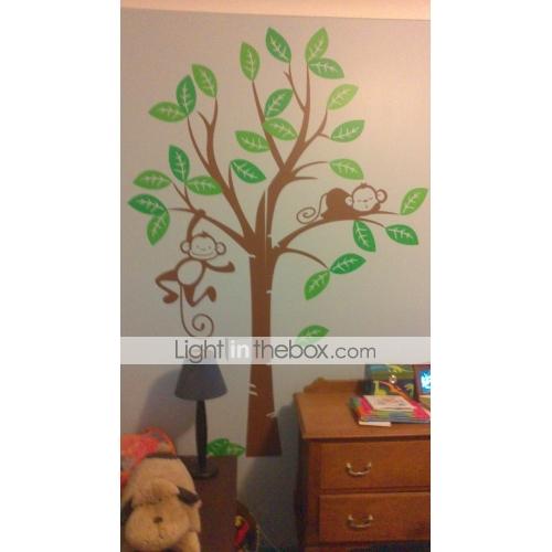 Barnerom monkey tree wall stickers anmeldelse