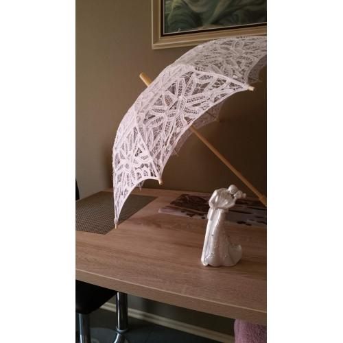 Bruiloft katoen paraplu post handvat 26 8inch ongeveer 68cm hout 30 7inch ongeveer 78cm review - Paraplu katoen ...