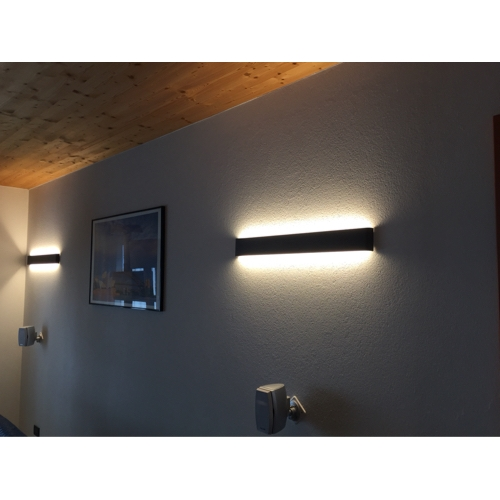 Black Indoor Wall Sconces : 24W Modern LED Wall Sconces Light Indoor Black / White 72cm review