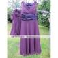 Homecoming Bridesmaid Dress Knee Length Chiffon A Line V Neck Sleeveless Party Dress