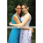 Ankle-length Organza Bridesmaid Dress - Pearl Pink Plus Sizes A-line V-neck