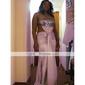 Sheath/ Column Strapless Sweep/ Brush Train Elastic Silk-like Satin Evening/ Prom Dress
