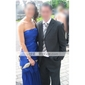 Military Ball/Formal Evening Dress - Royal Blue Plus Sizes Trumpet/Mermaid Strapless Court Train Chiffon/Stretch Satin