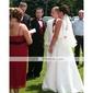 1 laag vingertop lengte bruiloft sluier