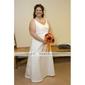A-line Scoop Floor-length Satin Bridesmaid/ Wedding Party Dress (YCF113)