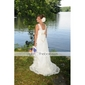 Amanda Seyfried Mamma Mia Empire V-neck Asymetrical Tulle Taffeta Celebrity Wedding Dress (WSM0356)
