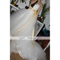 Ball Gown Plus Sizes Wedding Dress - Ivory Chapel Train Sweetheart Tulle