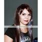 sin tapa extra larga de alta calidad natural sintético aspecto negro peluca de pelo recto (0988-ns005)