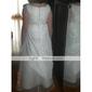 A-line/Princess Floor-length Flower Girl Dress - Tulle/Taffeta Sleeveless