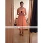 Knee-length Chiffon Bridesmaid Dress - Jade Plus Sizes/Hourglass/Pear/Misses/Petite/Apple/Inverted Triangle/Rectangle A-line/PrincessOne