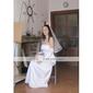 ALASTRINA - Robe pour Mariage et de Demoiselle d'Honneur Organza Satin - Châle Inclus