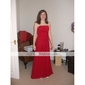 Bridesmaid Dress Floor Length Chiffon Strapless Party Dress