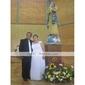 Sheath/Column Plus Sizes Wedding Dress - Ivory Floor-length Scoop Chiffon