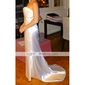Satin Trumpet/ Mermaid Strapless Court Train Wedding Dress inspired by Wilhelmina Slater in Ugly Betty (WSM0375)