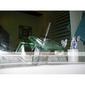 modern vattenfall badkar blandare med glas pip (väggfäste)