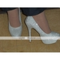 Sparkling Glitter Upper High Heel Closed-toes Fashion Shoes.More Colors Available