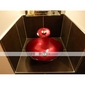 Victory Round Swirls Dark Red Tempered glass Vessel Sink and Waterfall Faucet(0917-VT4028)