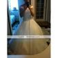 Haine Bal Trenă Capelă Organza Rochie de mireasă cu Mărgele Aplică de LAN TING BRIDE®