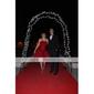 En Line stroppeløs kort / mini organza cocktail / homecoming kjole (fsd0218)