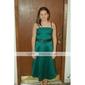 Linia -A Prințesă Bretele Spagheti Lungime Genunchi Satin Rochie Junion Domnișoare Onoare cu Eșarfă / Panglică Volane de LAN TING BRIDE®