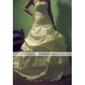 Robe de Mariée en Satin, Coupe Robe de Bal Décolleté en Cœur, Traîne Chapelle
