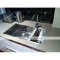 robinet de la cuisine contemporaine en laiton - fini chrome