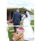 Voal de Nuntă Două Straturi Voaluri Lungi Până la Cot Voaluri pentru Păr Scurt Margine cu Mărgele 33.46 în (85cm) Tul Alb Ivoriu Șampanie