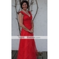 A-line Plus Sizes Mother of the Bride Dress - Ruby Floor-length Sleeveless Organza