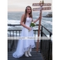 Sheath/Column Plus Sizes Wedding Dress - Ivory Asymmetrical Strapless Tulle