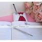 pura elegante boda libro de visitas y pluma conjunto de raso con lazos decorativos firmar en el libro
