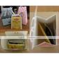 anillo de rosa y plata favor de la boda bolsa / caja (juego de 12)