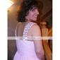 kotiinpaluu morsiusneito mekko teetä pituus sifonki linja v kaula häät juhlamekko (22563)