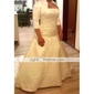 A-line Plus Sizes Wedding Dress - Ivory Chapel Train Spaghetti Straps Satin