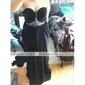 Teacă / coloană păpușă fără bretele podea lungă sifon rochie de seară cu ciorap de ts couture®