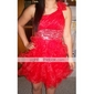 ILMA - Vestido de Coquetel em Organza e Cetim