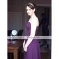 Formal Evening/Military Ball Dress - Lavender Plus Sizes Sheath/Column Strapless/Spaghetti Straps Sweep/Brush Train Chiffon
