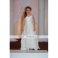 Robe de Demoiselle d'Honneur Enfant en Taffetas & Organza, Coupe Princesse & Fines Bretelles