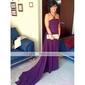 TS Couture Formal Evening / Military Ball Dress - Lavender Plus Sizes / Petite Sheath/Column Strapless / Spaghetti Straps Sweep/Brush Train Chiffon