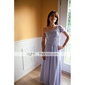 Lanting Floor-length Chiffon Bridesmaid Dress - Royal Blue Plus Sizes / Petite A-line One Shoulder