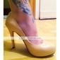 en cuir verni talon aiguille supérieure fermée orteils fête / soirée chaussures
