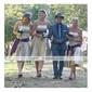 Linia -A Prințesă Fără Bretele Lungime Genunchi Satin Rochie Domnișoară Onoare cu Eșarfă / Panglică de LAN TING BRIDE®