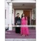 A-linie printesa off-the-umăr lungime lungime lungime ceai de vacanță rochie cu panglica de ts couture®