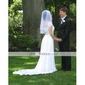 2 couche de voile de mariée magnifique coude