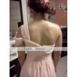 Bridesmaid Dress Floor Length Chiffon Sheath Column One Shoulder Dress