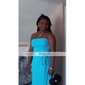 Floor-length Chiffon Bridesmaid Dress - Blushing Pink Plus Sizes Sheath/Column Strapless